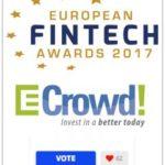 Vota a ECrowd! para el Premio Europeo de las Finanzas Alternativas 2017